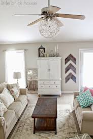 Shabby Chic White Ceiling Fans by Little Brick House Ceiling Fan Makeover Ceiling Fan Makeover