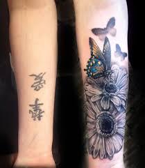 Butterfly Flowers Forearm Tattoo Image Source Tattooideas247