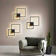 moderne leuchte led wand le wohnzimmer schwarz weiß fini