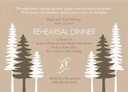 Rustic Pine Trees Rehearsal Dinner Invitation By PurpleTrail