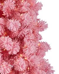 Flocked Downswept Christmas Trees by Pink Flocked Christmas Tree Christmas Lights Decoration