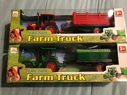 100 Toy Farm Trucks And Trailers Lot Of 2 NEW Tractor With Trailer 10 Friction Pull Back Ages 3