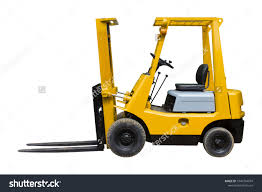 100 Industrial Lift Truck Old Forklift Isolated On Stock Photo Edit Now