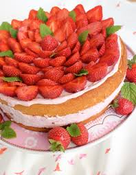 erdbeer minz torte tezukuri baking