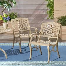 Noble House Phoenix Sand Armed Aluminum Outdoor Lounge Chairs (2 ... 65 Best Front Yard And Backyard Landscaping Ideas Designs Lets Do Whimsical Outdoor Ding Making It Lovely A Romantic Garden Wedding Every Last Detail Stevenson Manor Upholstered Side Chair With Turned Legs By Standard Fniture At Household Club Pair Vintage Rebar Custom Painted Vegetable Back Bistro Chairs 25 Patio To Buy Right Now Carate Batik Lagoon Rounded Corners Cushion Blue 6 Montage Antiques Display Of Counter Stool Jugglingelephants