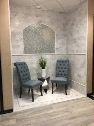 arizona tile on a seat bianco carrara marble with