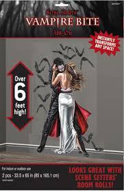 Halloween Scene Setter Rolls by Halloween Vampire Bite Gothic Kiss Decoration Scene Setters Ebay