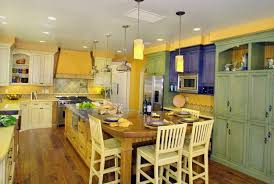 Bright Kitchen Colors Yellow Blue And Green