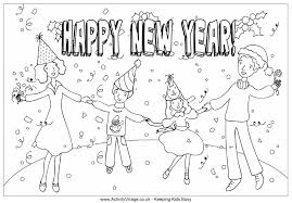 New Year Celebration Colouring Page