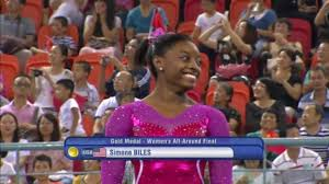 Simone Biles Floor Routine 2014 by Simone Biles Wins Four Gold Medals At 2014 World Artistic