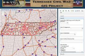Tennessee Civil War GIS Interactive Map