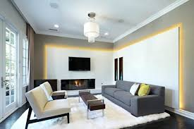 indirect lighting ideas modern white salon design indirect