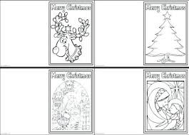 Coloring Christmas Cards Free Printable For Kids To Color With