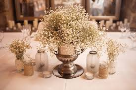 Centerpiece Flowers A Rustic Themed Wedding