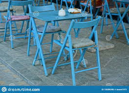 Blue Wooden Table And Chairs On The Sidewalk Stock Photo - Image Of ... 12m Kids Adjustable Rectangle Table With 6 Chairs Blue Set Chairs Table Stock Illustration Illustration Of Wall Miniature Hand Painted Chair Dollhouse Ding And Bistro The Door Bart Eysink Smeets Print 2018 Rademakers Spring Daffodills Stock Photo Edit Now 119728 Mixed Square 4 With Four Rose Seats Duck Egg Blue Roses Twelfth Scale Miniature Wooden And In Greek Restaurant Editorial Little Tikes Bright N Bold Greenblue Garden Bluegreen Resin Profile Education