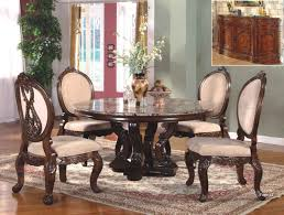 abbyville 60 round marble cherry dining table set marble dining