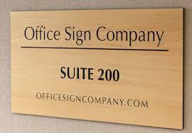 Suite Room Signs Wood Tone Room Signs