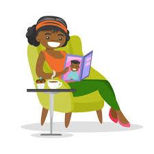 Une Femme Afro Américaine En Lisant Le Journal Femme Pousse Vecteurs Et Illustrations Libres De Droits Istock