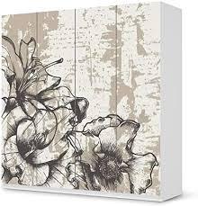 creatisto möbel klebefolie passend für ikea pax schrank 201 cm höhe 4 türen i möbelsticker möbel aufkleber folie i wohndeko für wohnzimmer