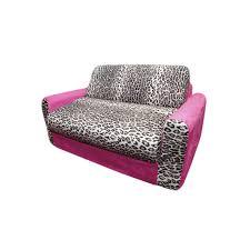 Kids Flip Open Sofa by Amazon Com Fun Furnishings Sofa Sleeper Pink Leopard Kitchen