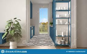 moderne weiãÿe und blaue minimalistische wohnzimmer mit