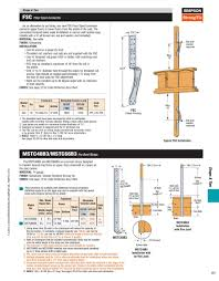 Floor Joist Span Tables by Fsc Floor Span Connector 2015 By Simpson Strong Tie