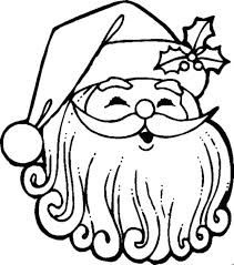 Santa Coloring Pages Free For Preschoolers Sheets Face