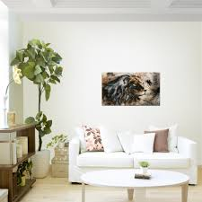 wandbild modern wohnzimmer afrika löwe beige braun