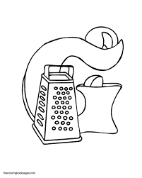 Things In The Kitchen Colouring Pages Page 2