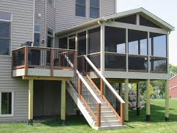 Screened In Porch Decorating Ideas And Photos by Screened In Deck Screened Porch Maple Grove Screened Porches