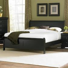 Black Leather Headboard Queen by Bedroom Queen Sleigh Bed Frame Bed Frames With Drawers King
