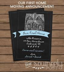 Moving Announcement Our First Home