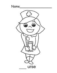 Nurse Sweet Smile Coloring Page