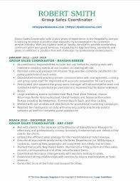 Group Sales Coordinator Resume Samples QwikResume Information Technology Job