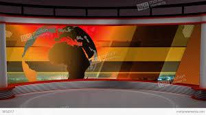 News TV Studio Set 104
