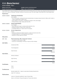 Scrum Master Resume: Samples And Full Writing Guide [+20 Examples] Computer Science Resume 2019 Guide Examples Senior Scrum Master Samples Velvet Jobs Special Education Teacher Example Preschool Sample Monstercom And Full Writing 20 Biochemist For Masters Degree Seven Advantages Of Grad Katela Cover Letter Resume Home Health Aide Valid Or How To
