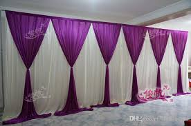 New Fashion 10ft20ft Wedding Stage Curtain Purple Backdrop With Beatiful Swag Drape And Decorations For Church