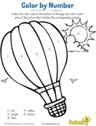 Hot Air Balloon Color By Number