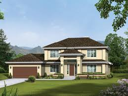 Images House Plans With Hip Roof Styles by Colonade Prairie Style Home Plan 008d 0087 House Plans And More