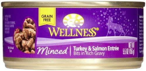 Wellness Minced Cat Food - Turkey and Salmon Entree