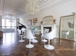 Set - 200cm X 120cm White Carrara Marble Oval Table & 4 Tulip Side, 2 Tulip  Arm Chairs