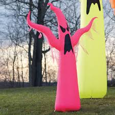 Grandin Road Halloween Tree by Giant Neon Inflatable Ghosts The Green Head