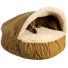 amazon com snoozer luxury cozy cave camel large pet beds