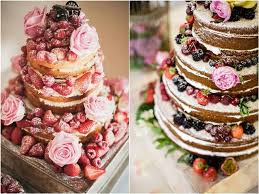 Rustic Country Naked Berry Wedding Cakes