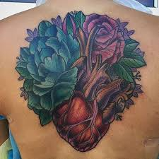 Heart And Flower Tattoo By Terryribera Stop Remington To Book Your Appointment Today