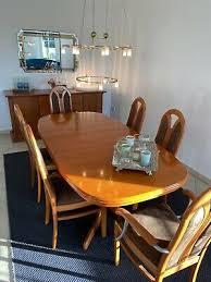 esstisch mit 4 stühlen mahagoni ausziehbar gebraucht sehr