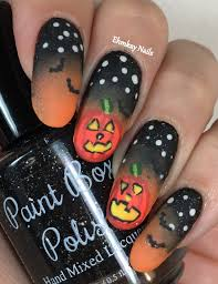 Hudson Valley Pumpkin Blaze Promo Code by Ehmkay Nails Halloween Nail Art Glowing Pumpkin Nail Art At The