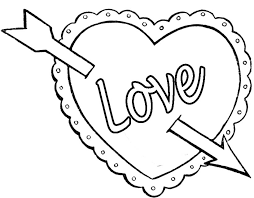 Valentines Day Coloring Pages Love Arrow
