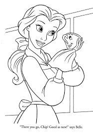 High Resolution Coloring Disney Pages Belle In Princesses