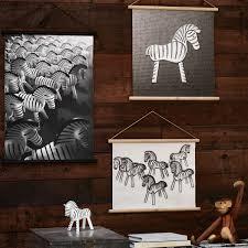 Fantastic Kneeling Glass Zebra Sculpture Gift Glass Ornament Animal